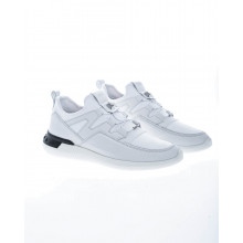 """No Code"" Leather sneakers with adjustable elastic"
