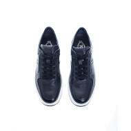 """New Cassetta"" Patina leather sneakers"