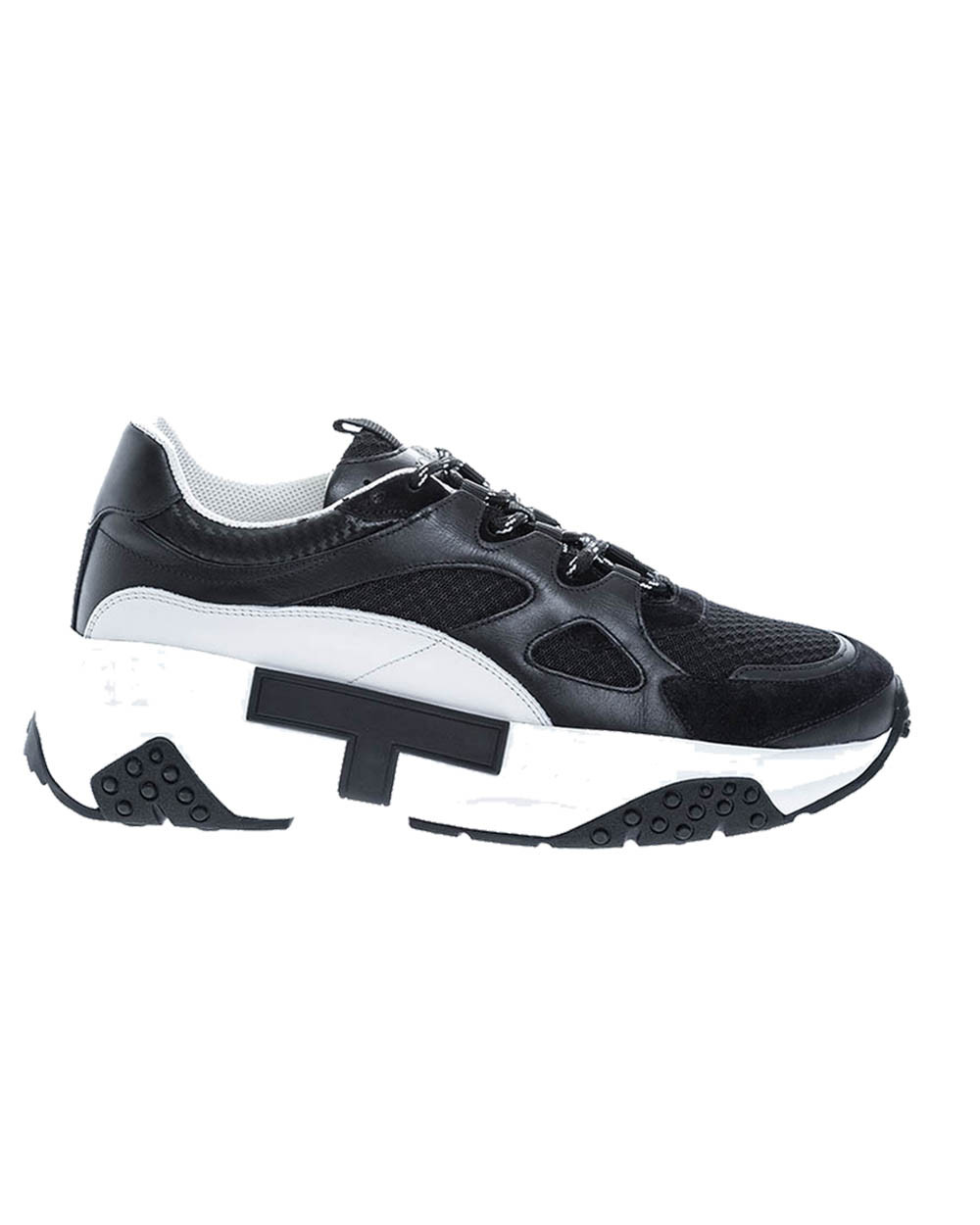 """""""Active Sportiva"""" Leather two-colored sneakers large sole"""