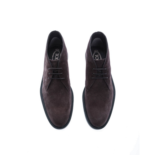 """Polako"" High suede derbys 3-holes lacing"
