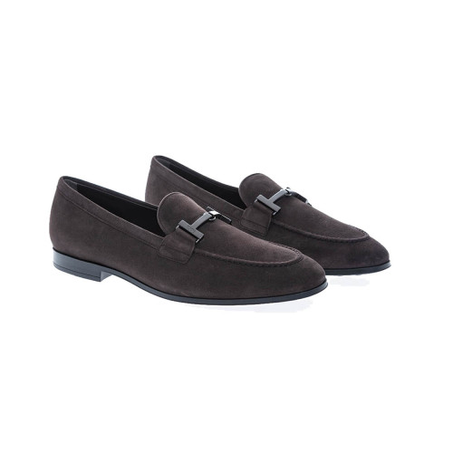 Achat Doppia T Gomma Suede moccasins with metallic bit - Jacques-loup