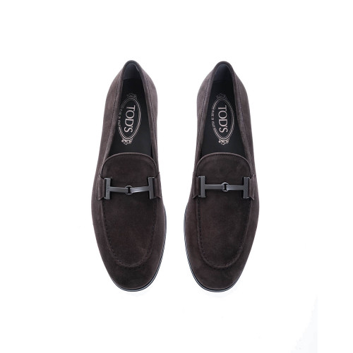 """Doppia T Gomma"" Suede moccasins with metallic bit"