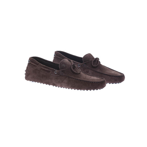 """""""Gomini Laccetto"""" Split leather moccasins knotted laces"""