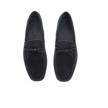 """""""Gomini Laccetto"""" Split leather moccasins knotted lace lace"""
