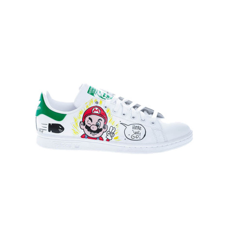 """Mario Bros"" Sneakers with handpainted design"