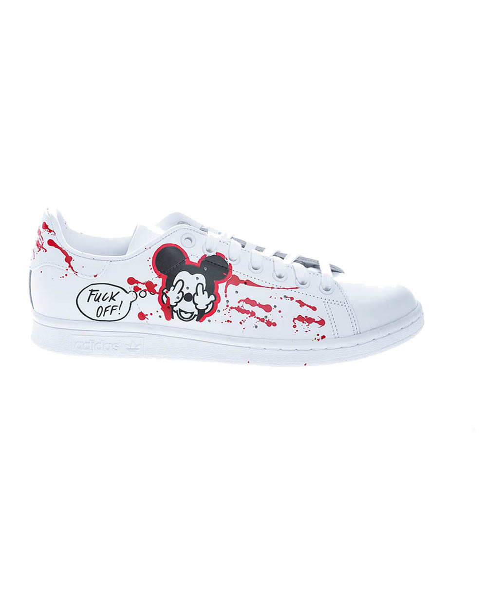"""""""Fuck Off"""" Sneakers with handpainted design"""