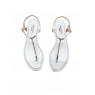 Achat Silver colored thong sandals Aquazurra for women - Jacques-loup