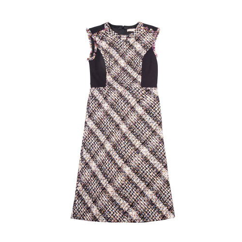 Achat Sleeveless tweed dress with... - Jacques-loup
