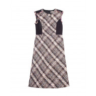 Sleeveless tweed dress with...