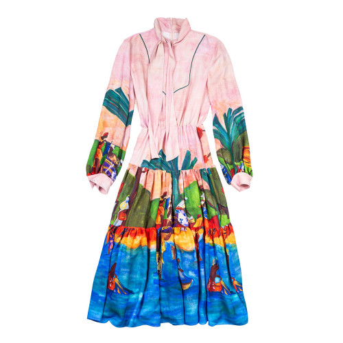 Achat Dress with Gauguin print... - Jacques-loup