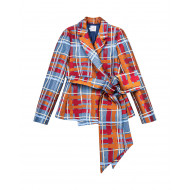 Achat Jacket with tartan print... - Jacques-loup