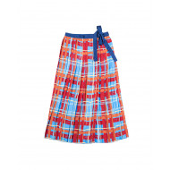 Wrap-around pleated skirt...