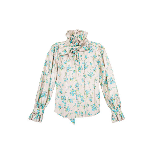 Achat Ivory blouse with blue flower print Marc Jacobs for women - Jacques-loup
