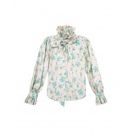 Ivory blouse with blue flower print Marc Jacobs for women