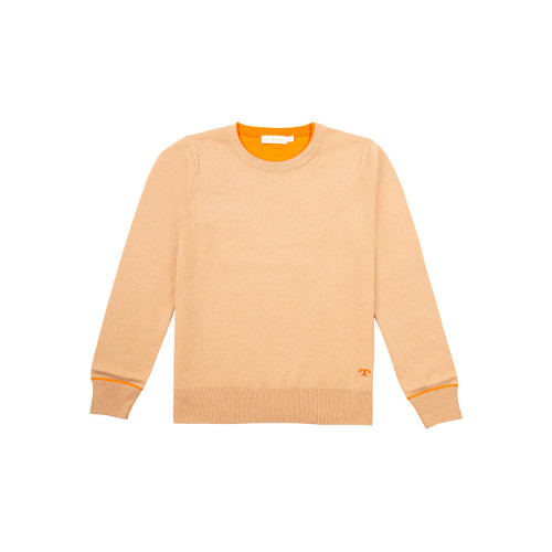 Cashmere jumper with orange...