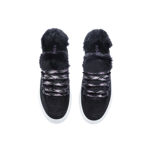 Achat H365 Suede low-top sneakers with fake fur - Jacques-loup