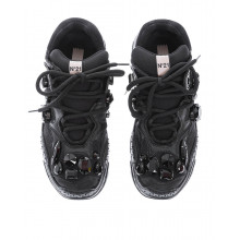 """""""Billy"""" calf leather sneakers with crystal-embellished"""