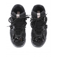 """Billy"" calf leather sneakers with crystal-embellished"