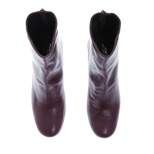 Achat Patina leather boots with round toe and zipper at the back 60 - Jacques-loup