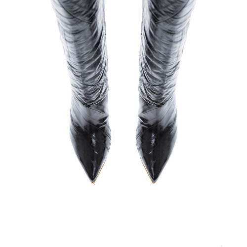 Achat Leather boots with pointed... - Jacques-loup