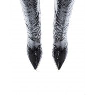 Leather boots with pointed...