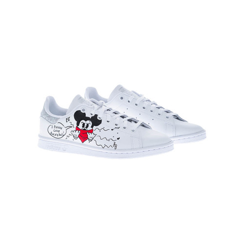 "Tennis Debsy ""Mickey Bandana"" arrière taupe-strass anthracite pour femme"