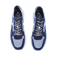 """Sportiva Allacciata"" Split leather sneakers thick outer sole 50"