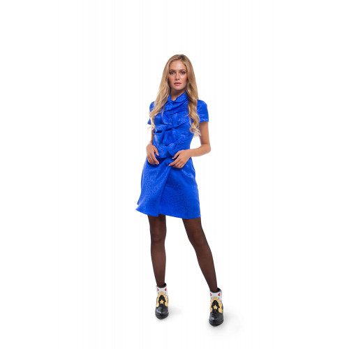 Achat Kelly Silk mini dress with high collar - Jacques-loup