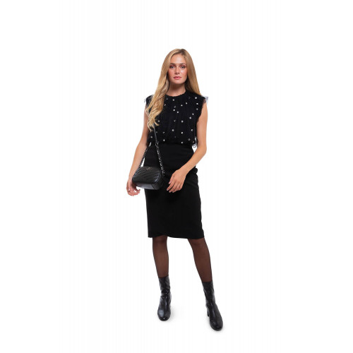 Achat Black pencil skirt with split opening - Jacques-loup