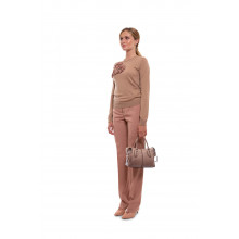 Straight wool trousers with pleats