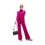 """The Velveteen Jean"" Cotton jacket and trousers flared style"