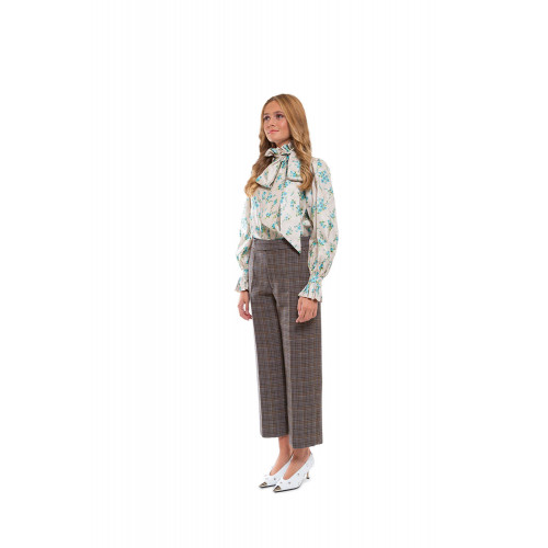 Achat Silk blouse with flower print - Jacques-loup