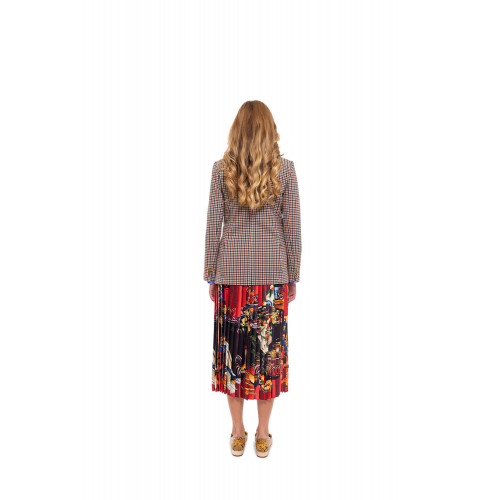Achat Wrap-around pleated skirt with Caravagio print - Jacques-loup