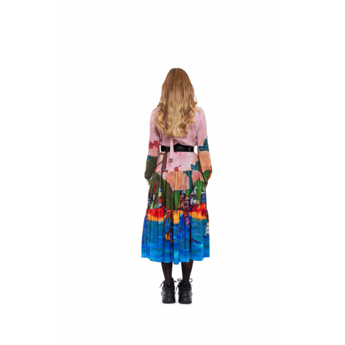 Achat Dress with Gauguin print and high collar - Jacques-loup