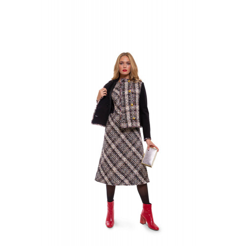 Achat Sleeveless tweed dress with stretch yokes - Jacques-loup