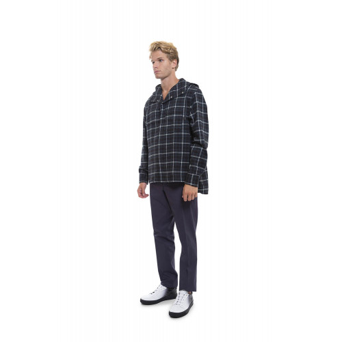 Brushed cotton overshirt tartan design