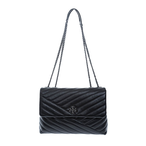 """Keira"" Leather quilted bag steel metal chain"