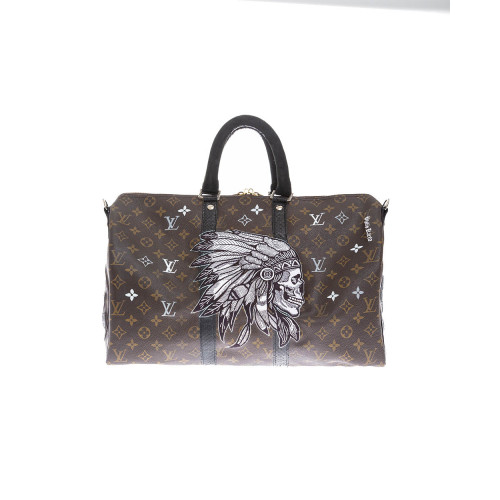 """Indian"" bag with python leather details 45 cm"