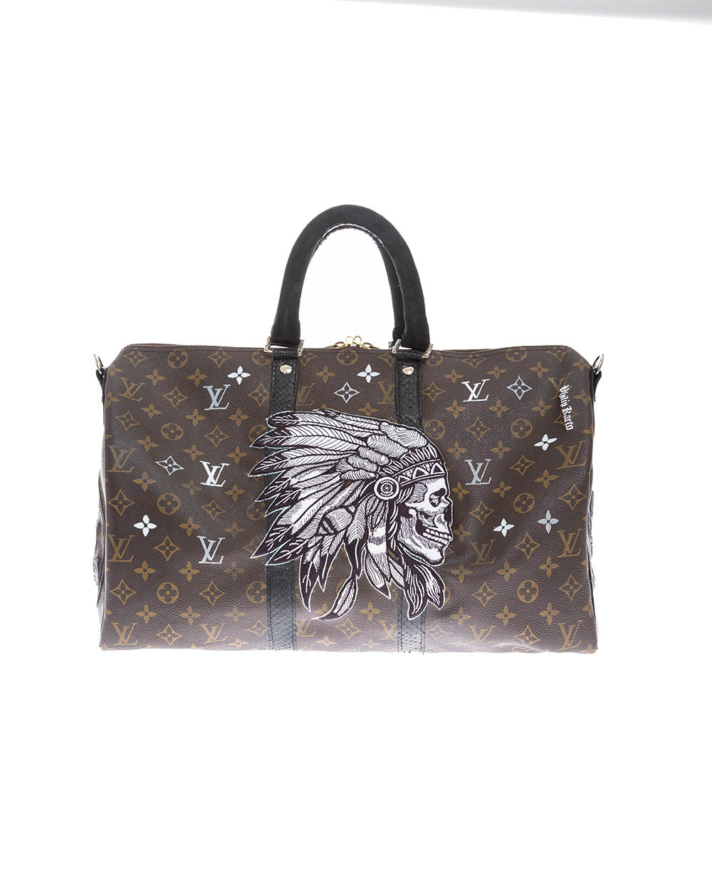 """""""Indian"""" bag with python leather details 45 cm"""