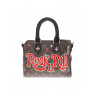 """Rock Oval"" bag with python..."