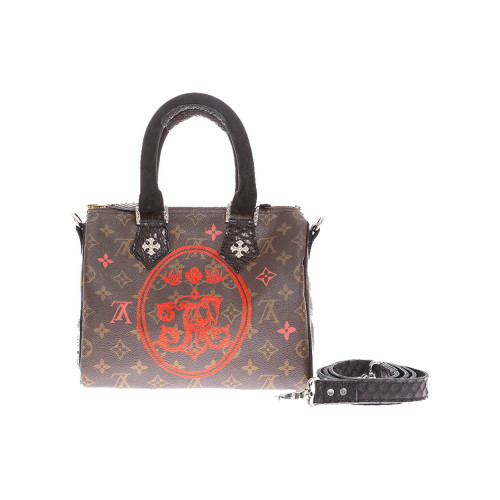 Achat Rock Oval bag with python... - Jacques-loup