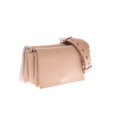"Sac Tod's ""Tracolina"" beige-rose pour femme"
