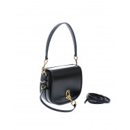 """The Saddle"" Leather bag round shape large flap"