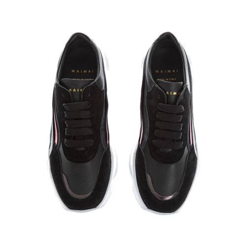 Achat Natural leather sneakers with yokes - Jacques-loup