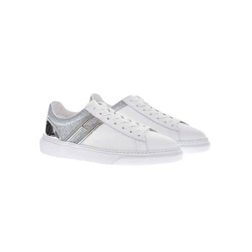 Achat Cassetta Leather sneakers with gold colored glitter - Jacques-loup