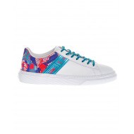 Achat Cassetta Leather sneakers with multicolored python print - Jacques-loup