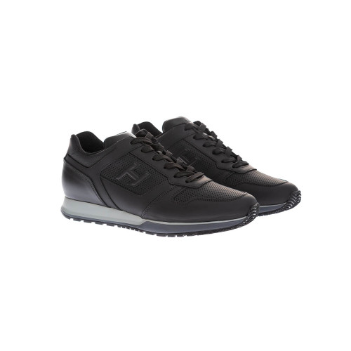 Achat H321 Plain rubber and leather sneakers - Jacques-loup