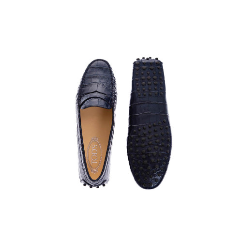 Achat Leather moccasins with crocodile print - Jacques-loup
