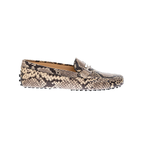 Achat Doppia T Leather moccasins with metallic bit and python print - Jacques-loup