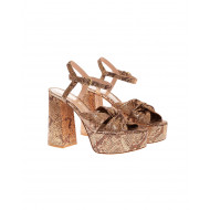 Achat Zandra Suede sandals with python print - Jacques-loup